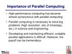 importance of parallel computing