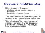 importance of parallel computing111