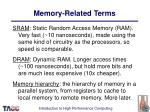 memory related terms