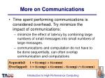 more on communications