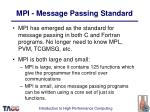 mpi message passing standard