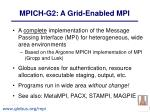 mpich g2 a grid enabled mpi