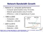 network bandwidth growth