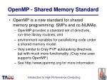 openmp shared memory standard