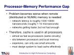 processor memory performance gap38