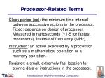 processor related terms