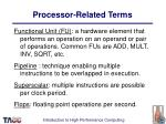 processor related terms31