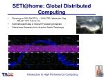 seti@home global distributed computing