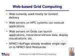 web based grid computing