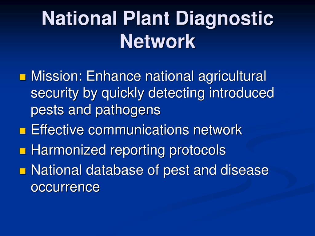 National Plant Diagnostic Network
