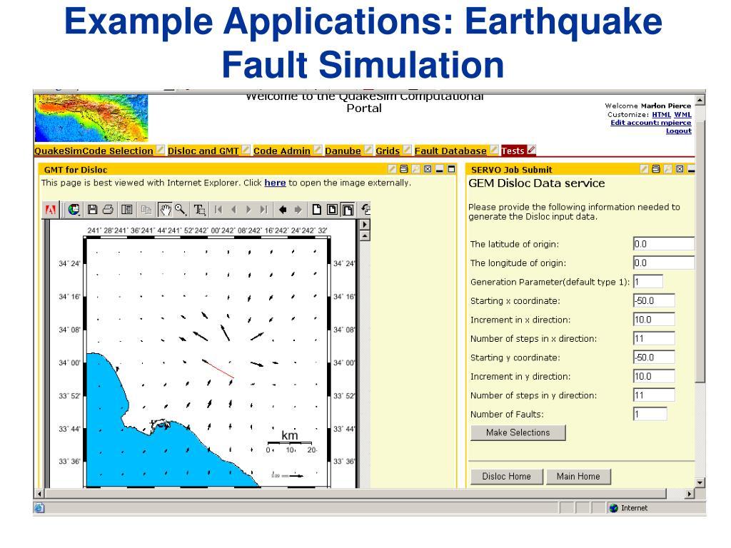 Example Applications: Earthquake Fault Simulation