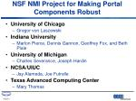 nsf nmi project for making portal components robust