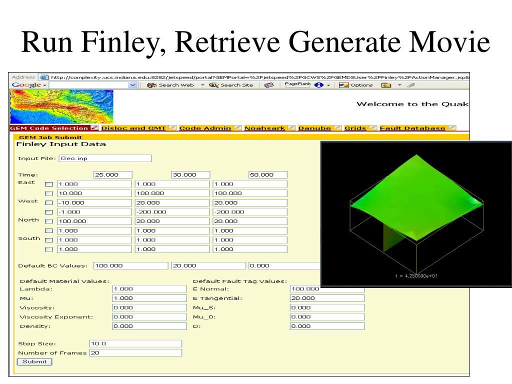Run Finley, Retrieve Generate Movie