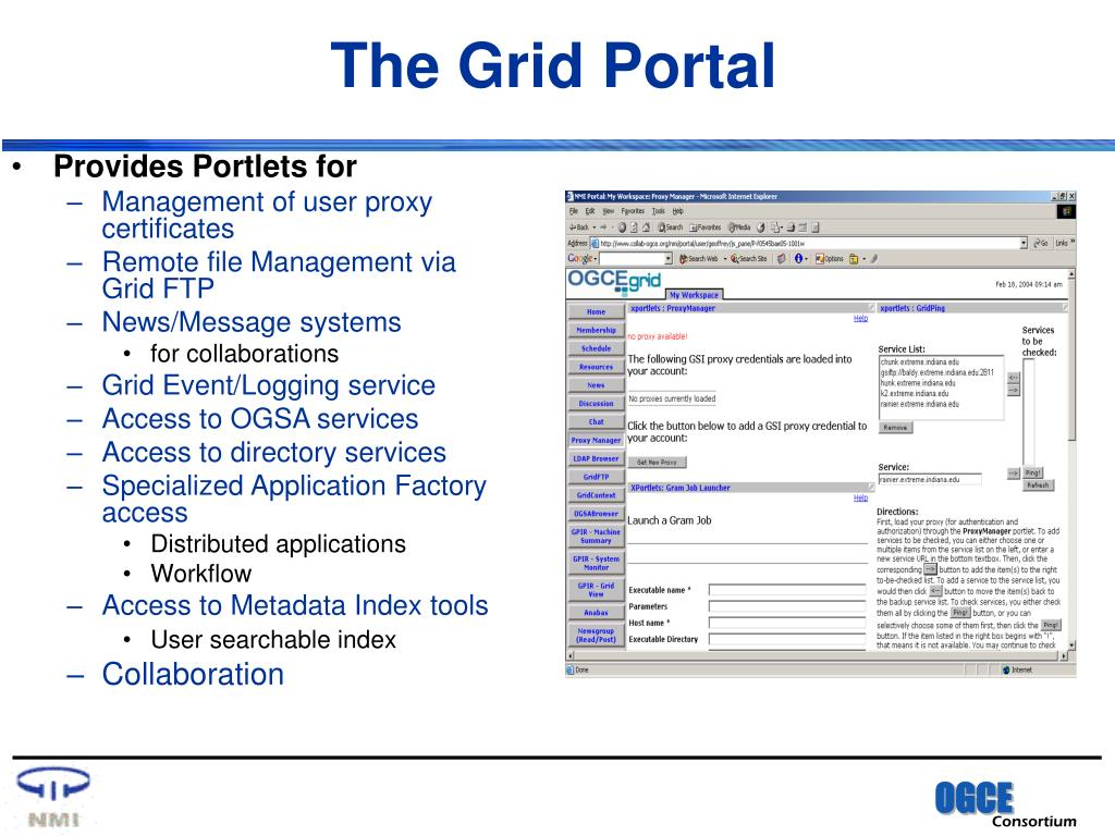 The Grid Portal