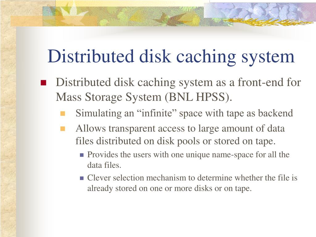 Distributed disk caching system