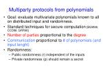 multiparty protocols from polynomials