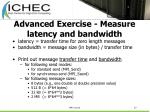 advanced exercise measure latency and bandwidth