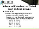 advanced exercises global scan and sub groups