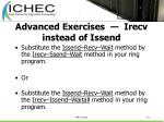 advanced exercises irecv instead of issend