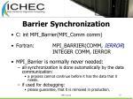 barrier synchronization