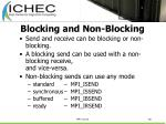 blocking and non blocking