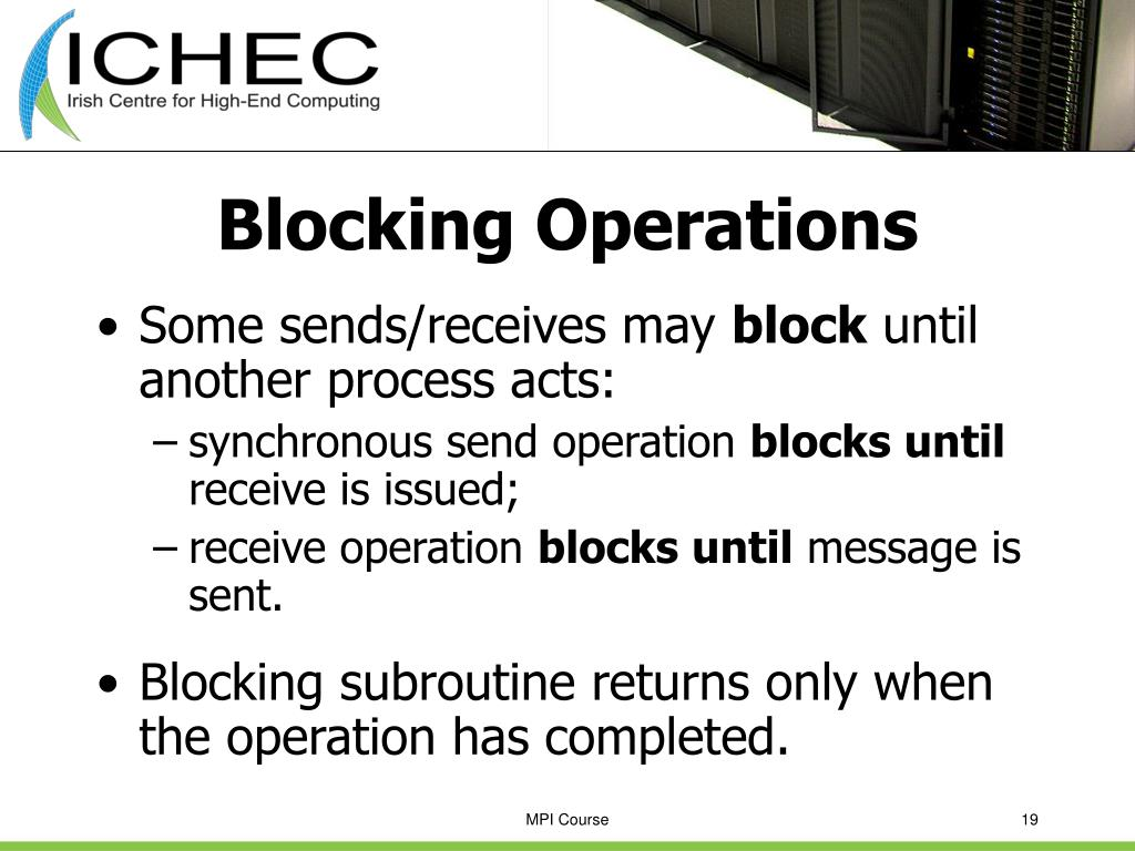 Blocking Operations
