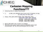 cartesian mapping functions109