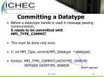 committing a datatype