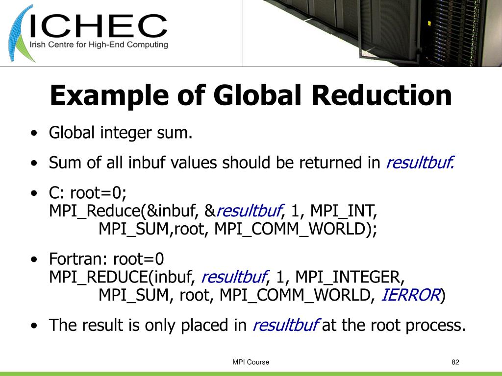 Example of Global Reduction