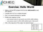 exercise hello world