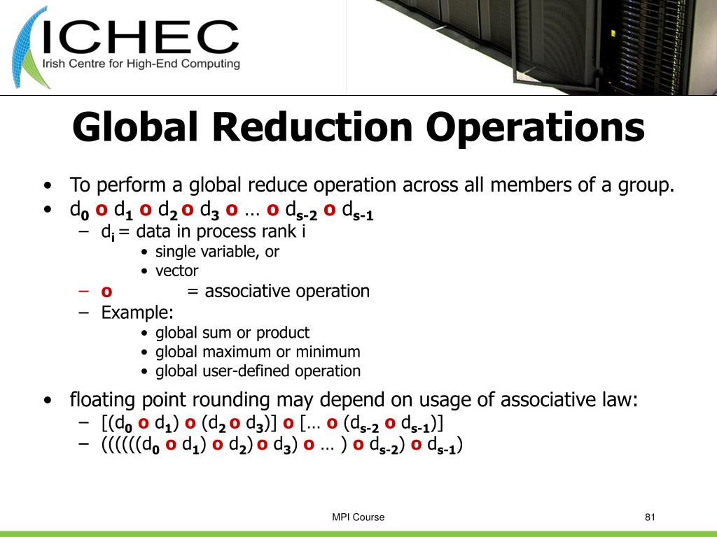 Global Reduction Operations