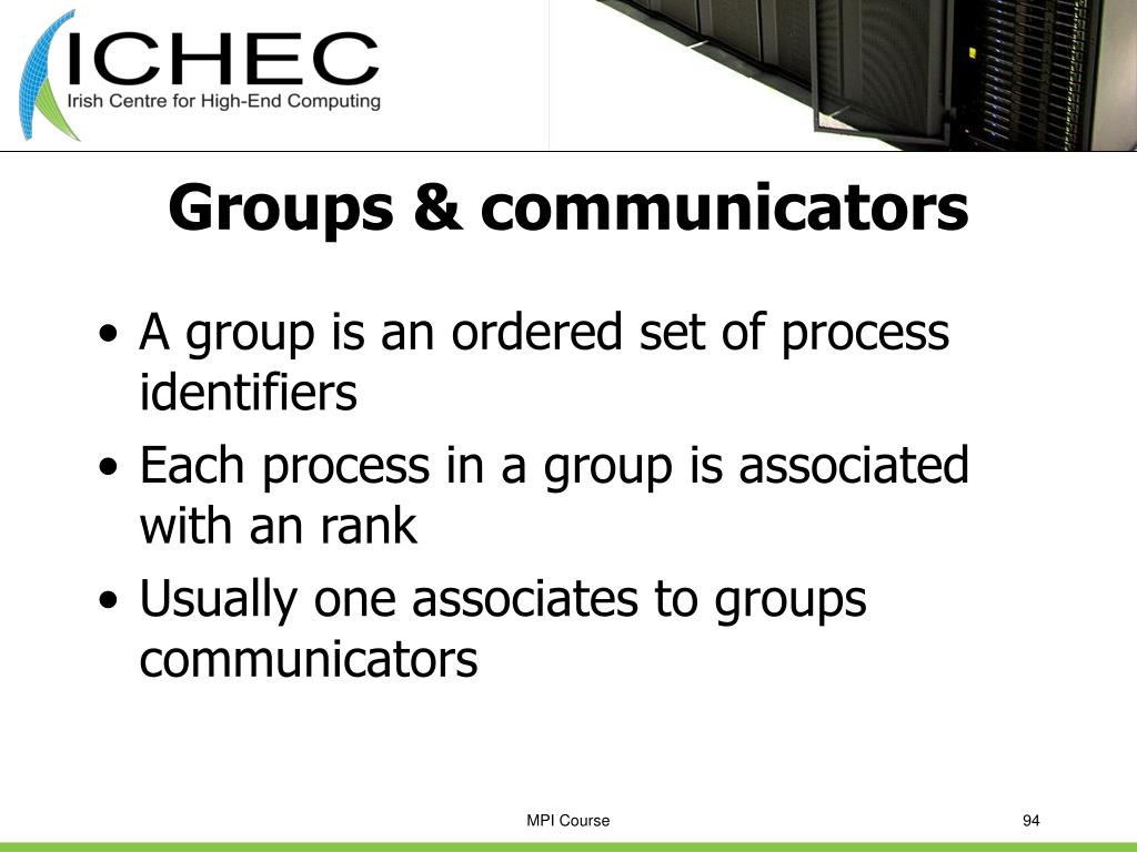 Groups & communicators