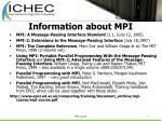 information about mpi