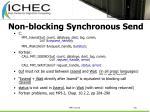 non blocking synchronous send