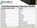 predefined reduction operation handles