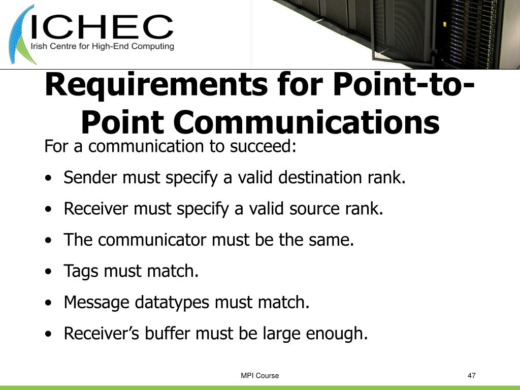 Requirements for Point-to-Point Communications