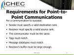 requirements for point to point communications
