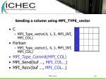 sending a column using mpi type vector