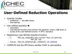 user defined reduction operations