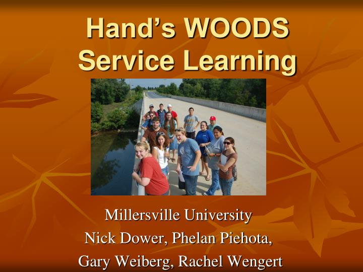hand s woods service learning n.