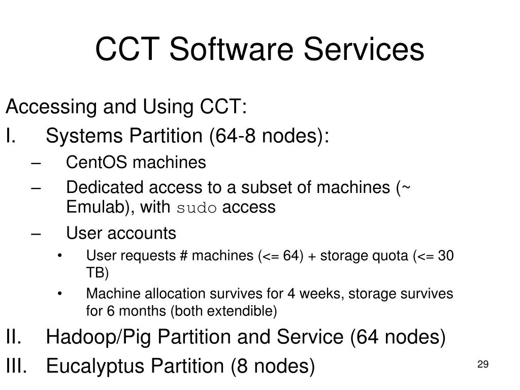 Accessing and Using CCT:
