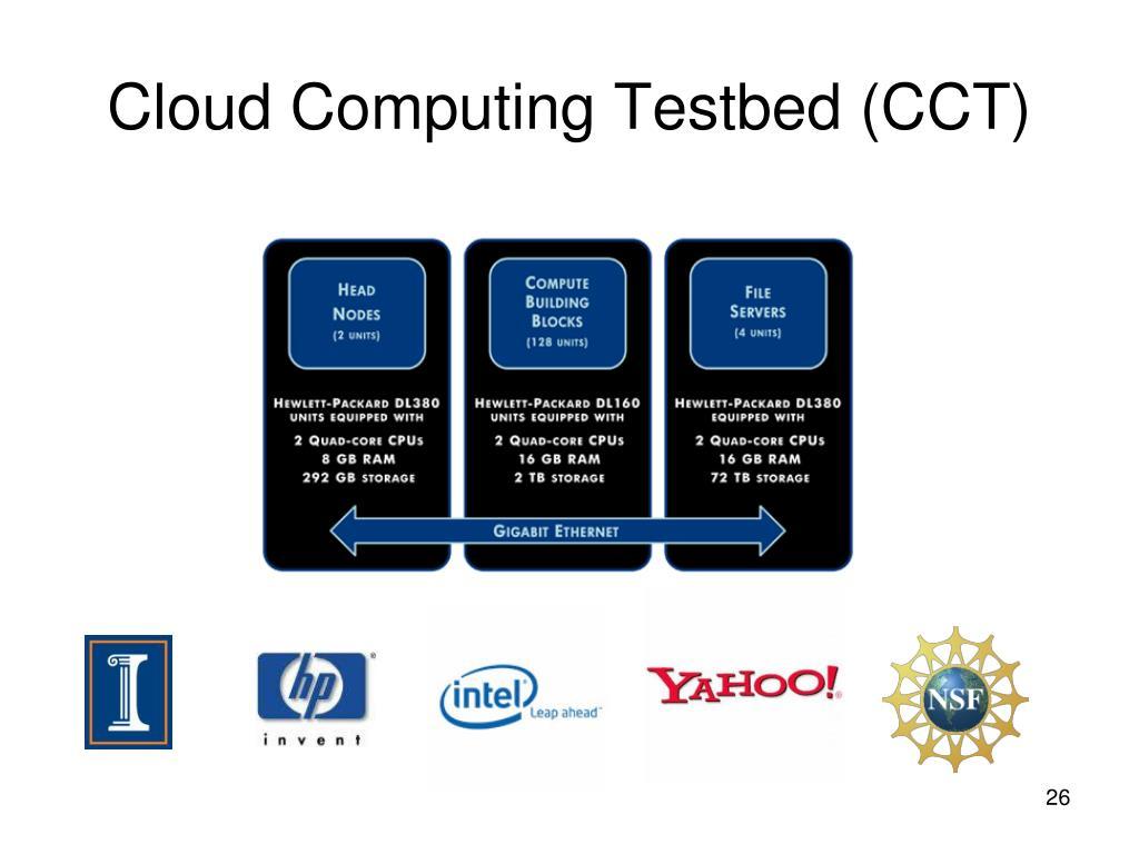 Cloud Computing Testbed (CCT)