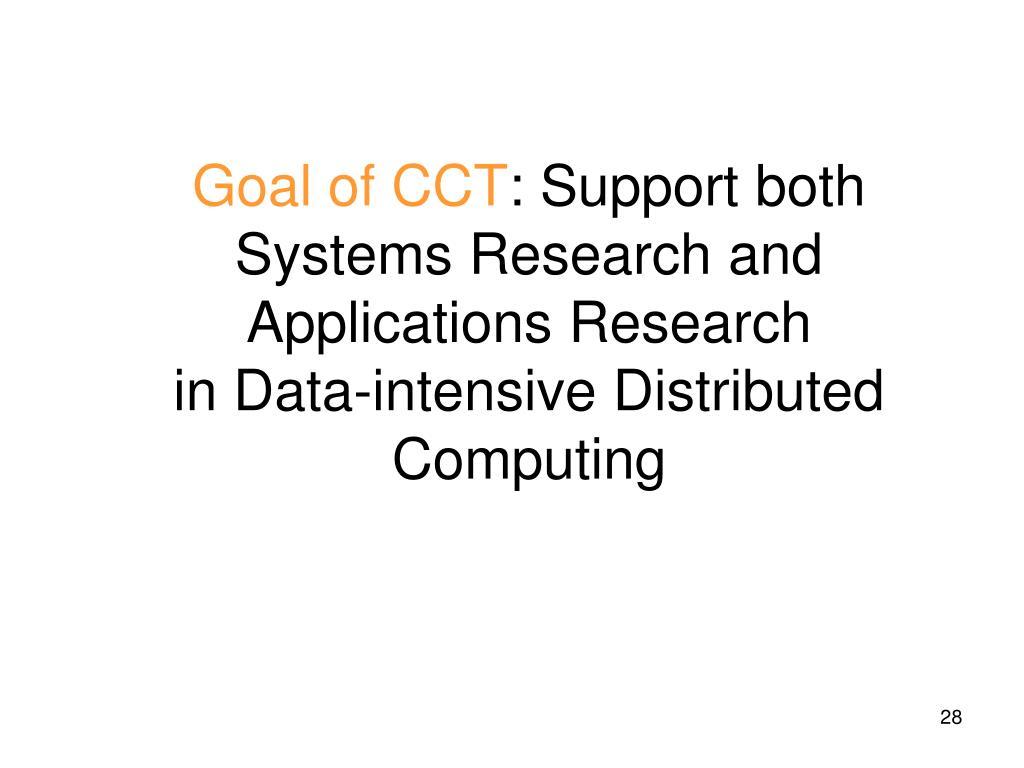 Goal of CCT