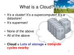 what is a cloud
