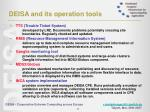 deisa and its operation tools