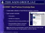 agosnet best practices knowledge base