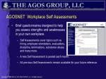 agosnet workplace self assessments