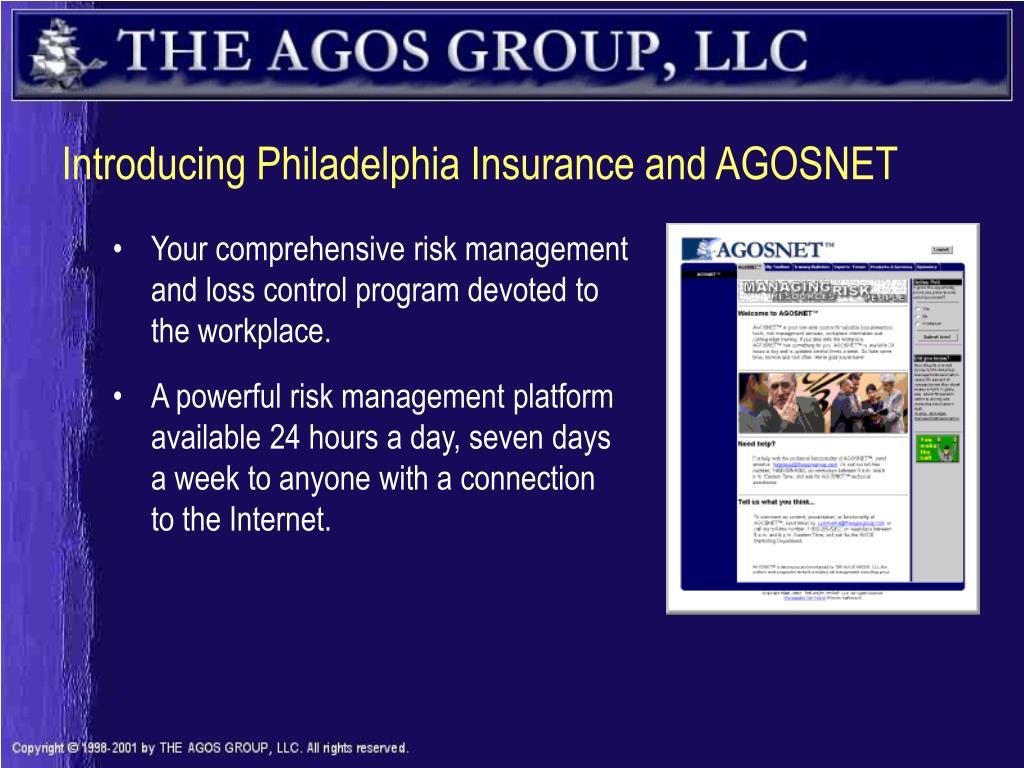 introducing philadelphia insurance and agosnet l.