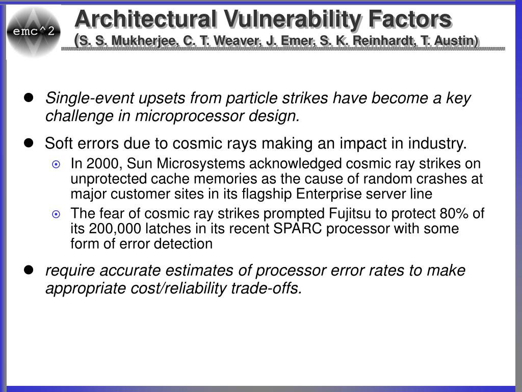 Architectural Vulnerability Factors
