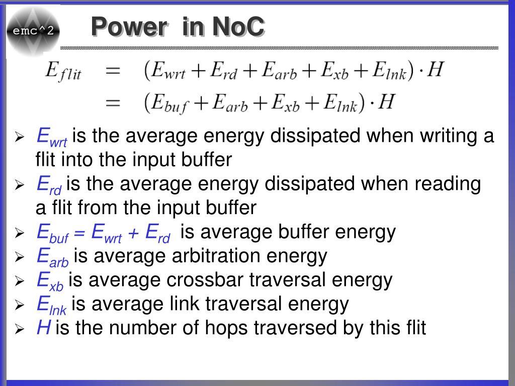 Power  in NoC